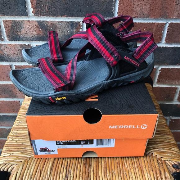 Like New Merrell All Out Blaze Web Sandals Sz 7